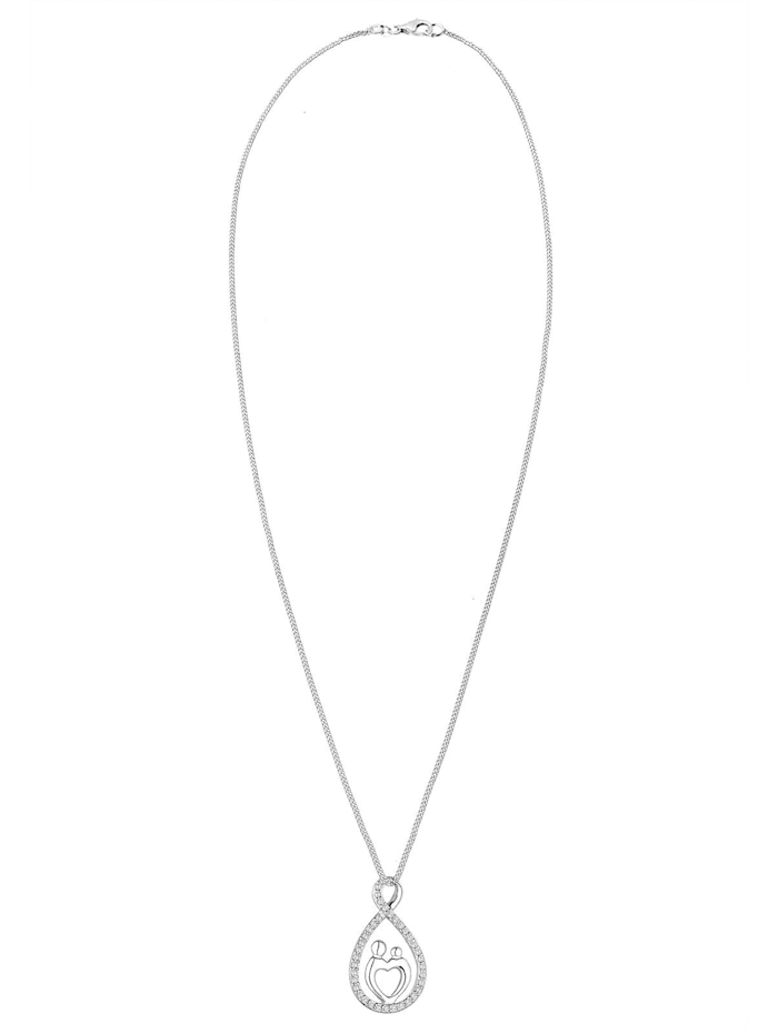 Halskette Mutter Kind Infinity Herz Love Zirkonia 925 Silber