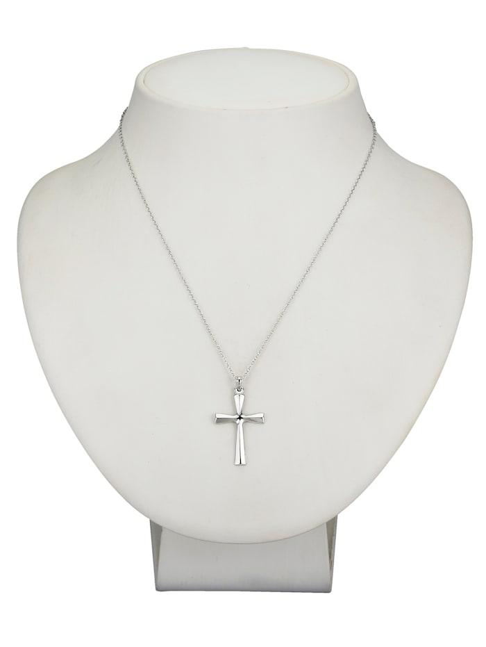 Pendentif 'croix' et chaîne