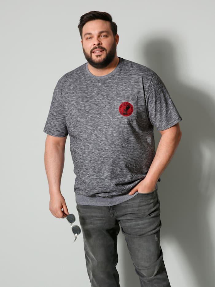 Men Plus T-Shirt Spezialschnitt, Schwarz/Weiß
