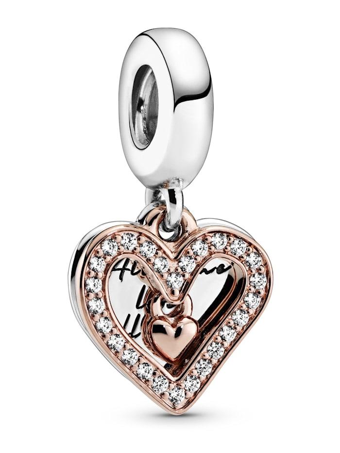 Pandora Charm -funkelndes Herz, Rosé
