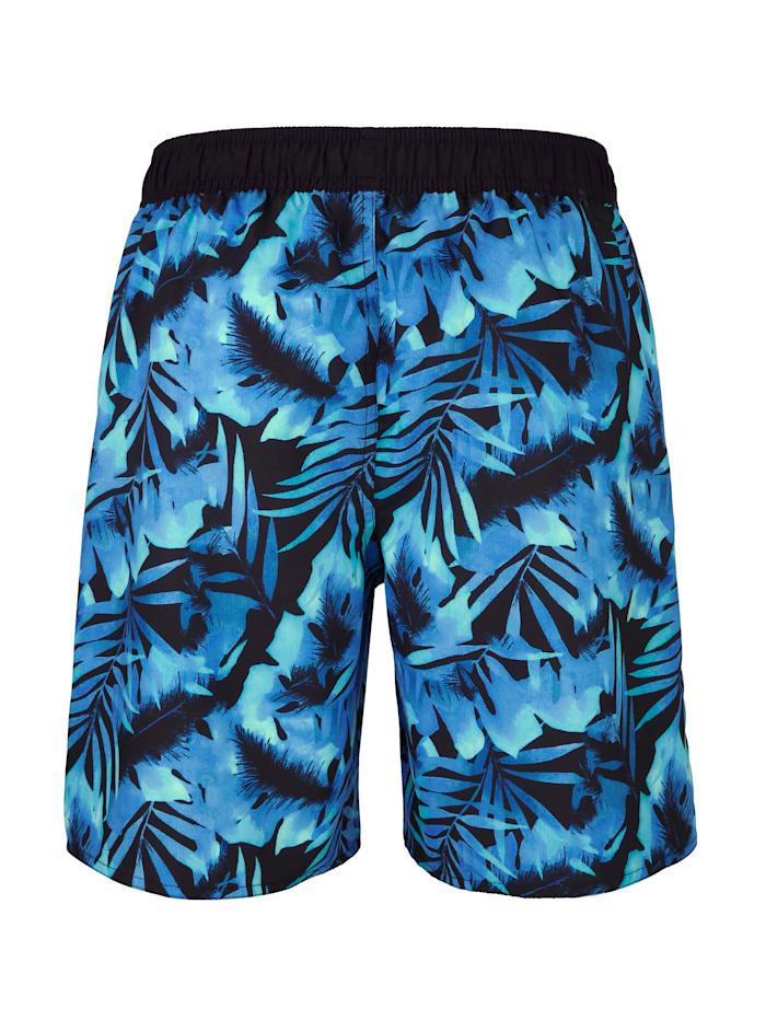 Zwemshort met trendy print rondom