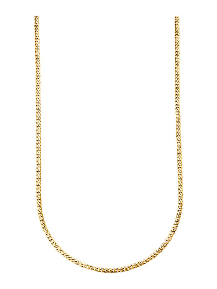 Halsband av pansarlänk i 9 k guld, Guldfärgad