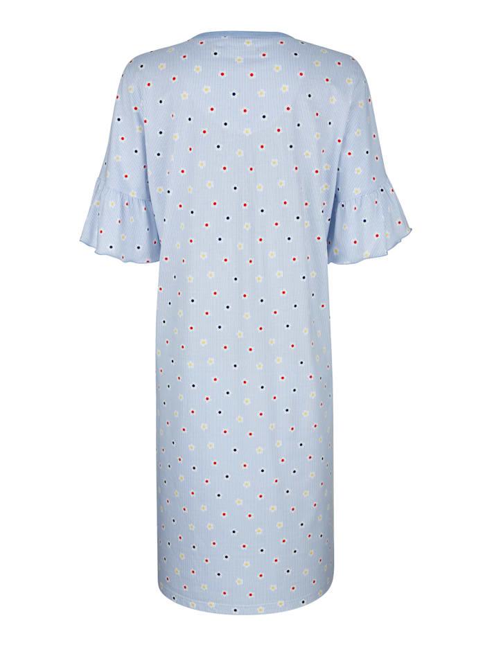 Chemise de nuit avec volants romantiques au bas des manches