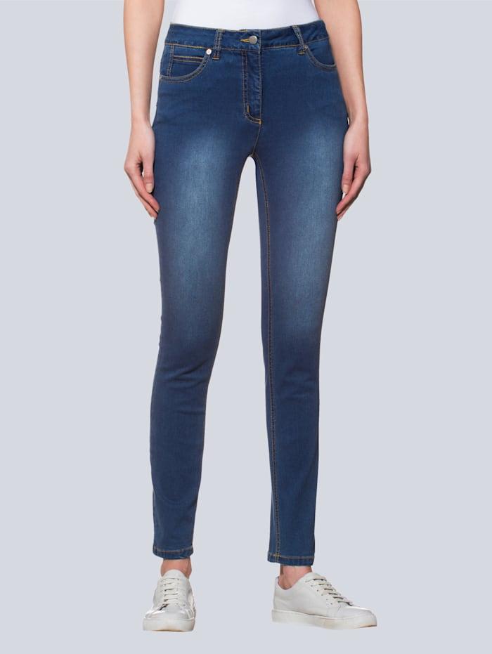 Alba Moda Jeans mit Push-Up-Effekt, Blau