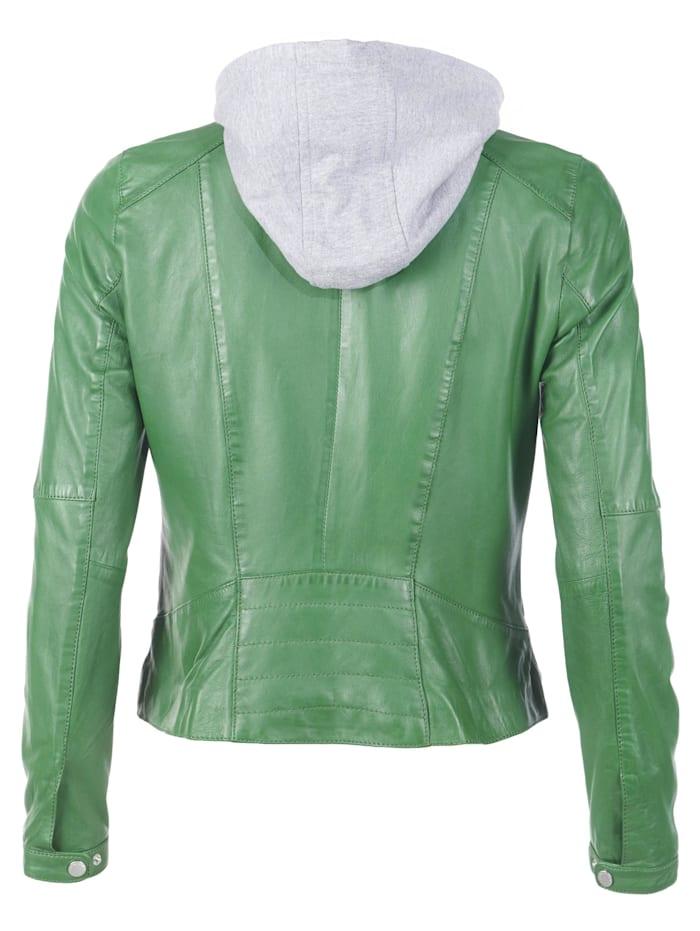 Lederjacke in auffälliger Farbe