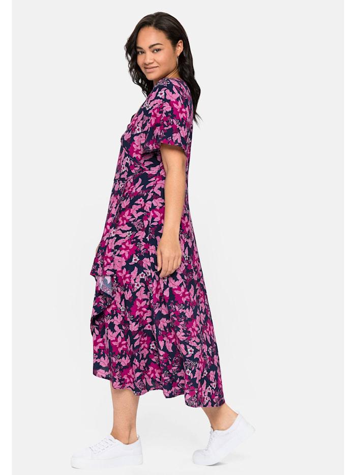 Kleid in Wickeloptik, mit Blumendruck