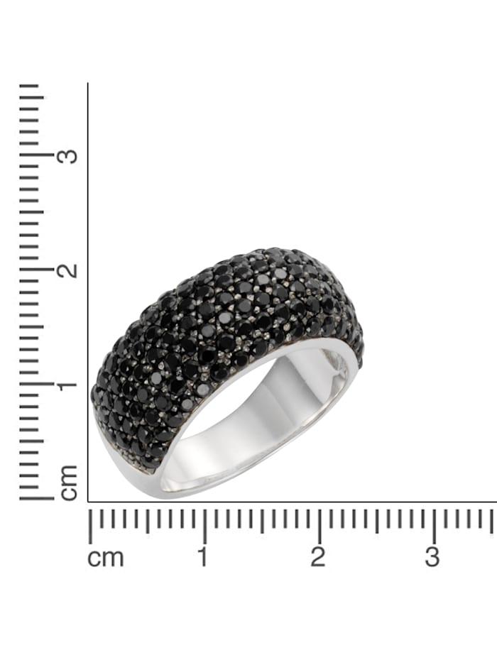 Ring 925/- Sterling Silber syn. Spinell schwarz Glänzend 925/- Sterling Silber