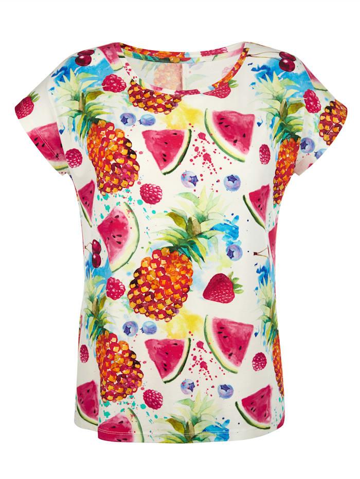 Shirt met print rondom