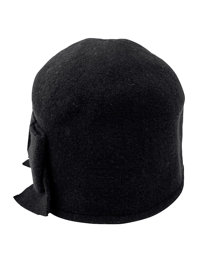 Seeberger Wool hat with bow detail, Navy