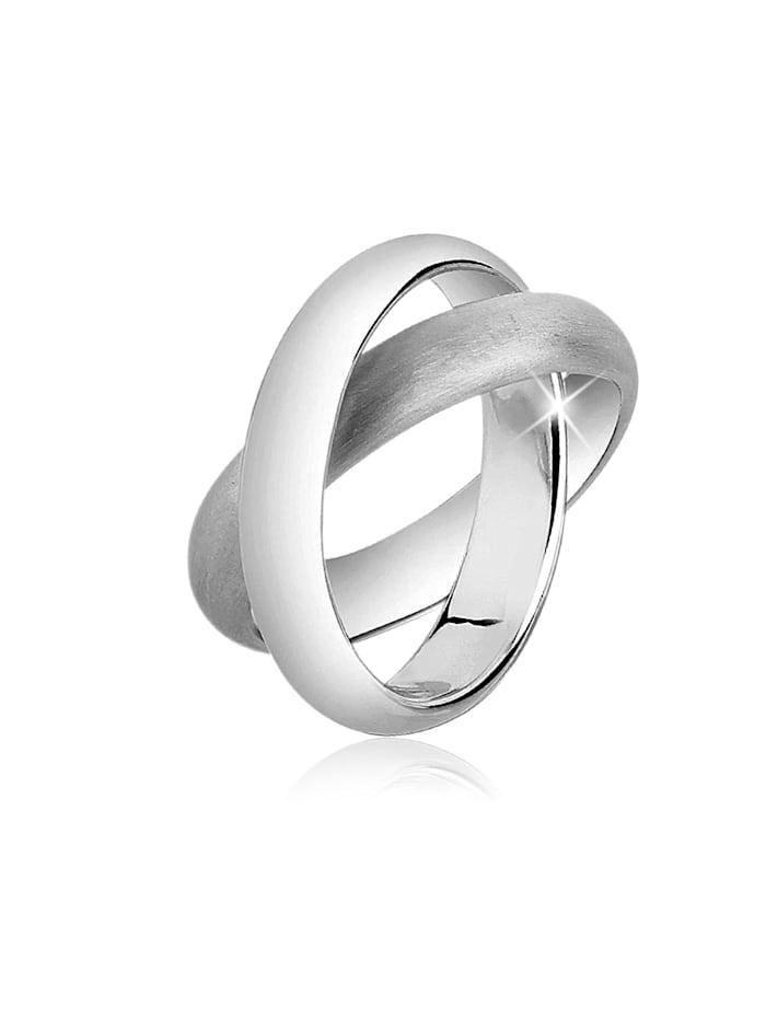 Nenalina Ring Wickelring Basic Gebürstet 925 Silber, Silber