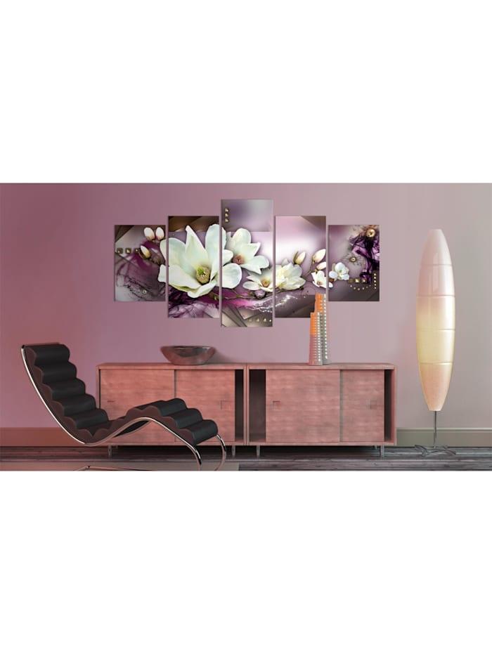 Wandbild Magnetische Abstraktion mit einer Orchidee