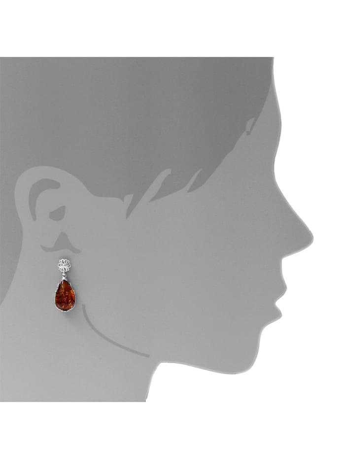 Ohrhänger - Vanessa - Silber 925/000 - Bernstein