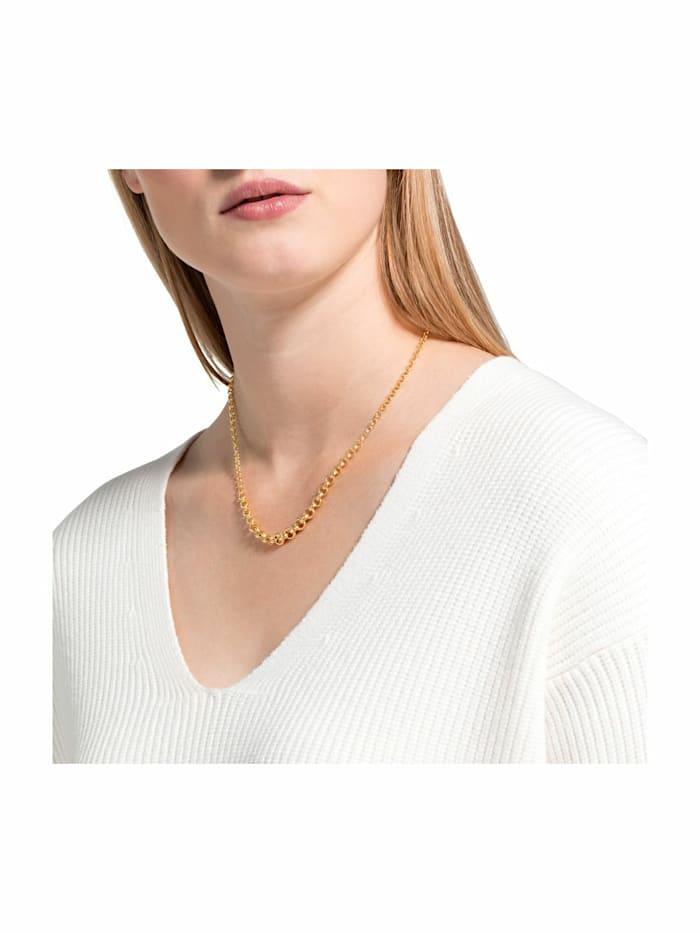 Collier für Damen, Sterling Silber 925 vergoldet