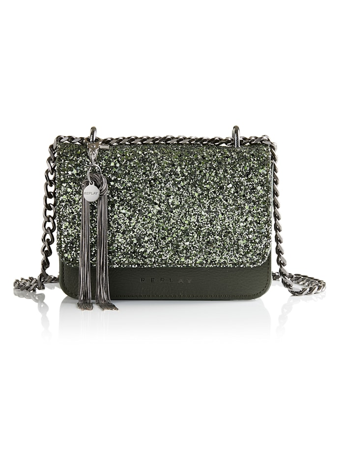 REPLAY Crossbody-Bag, grün