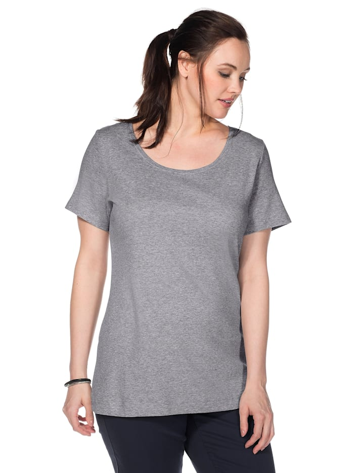 Sheego T-Shirt, grau meliert