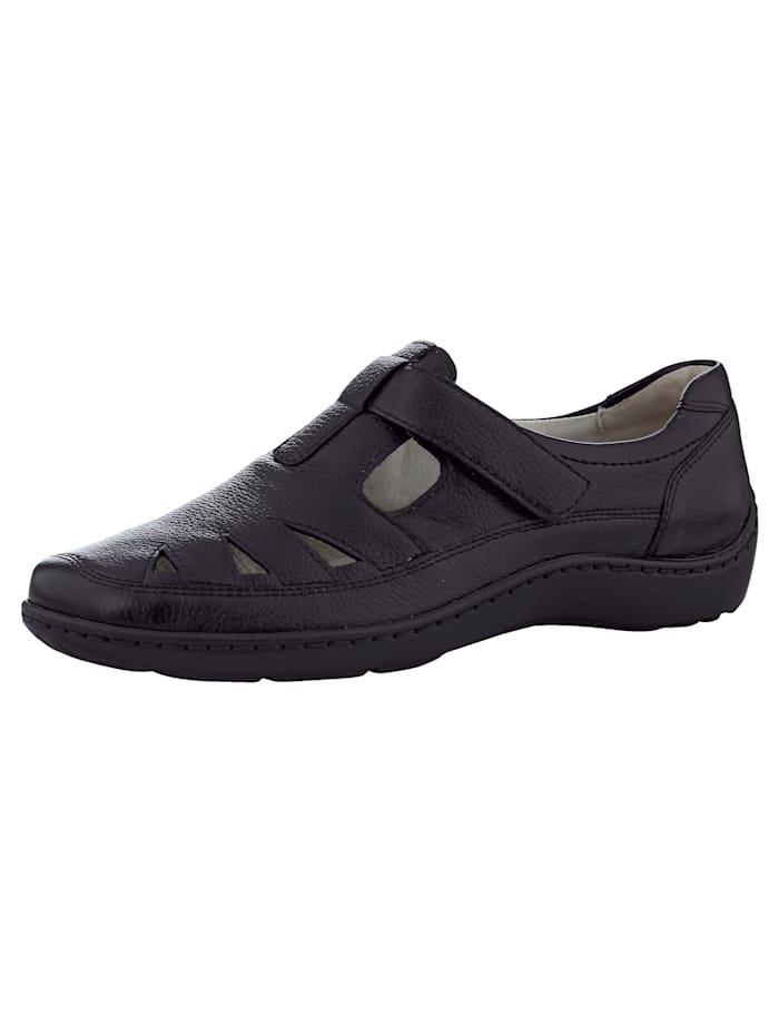 Waldläufer Velcro Shoes, Black