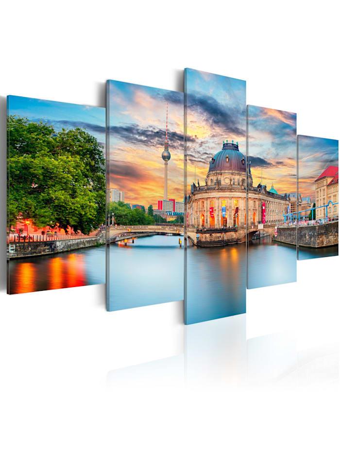 artgeist Wandbild Museum Island, Berlin, mehrfarbig