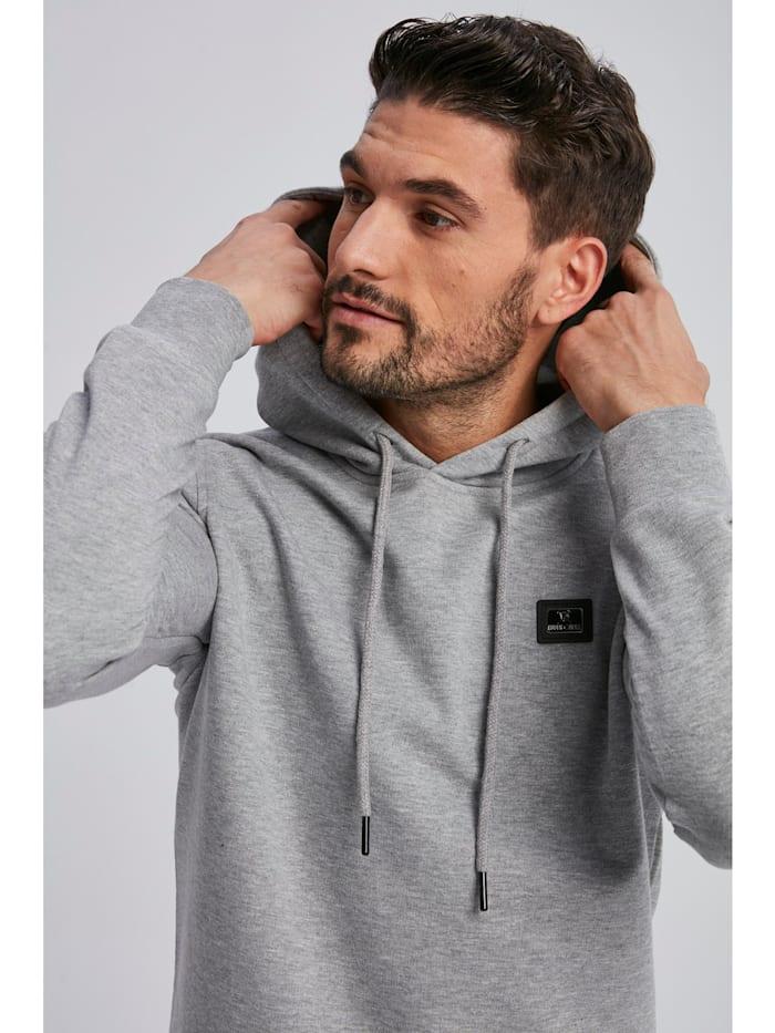 Sweatshirt Camden mit unifarbenem Stoff