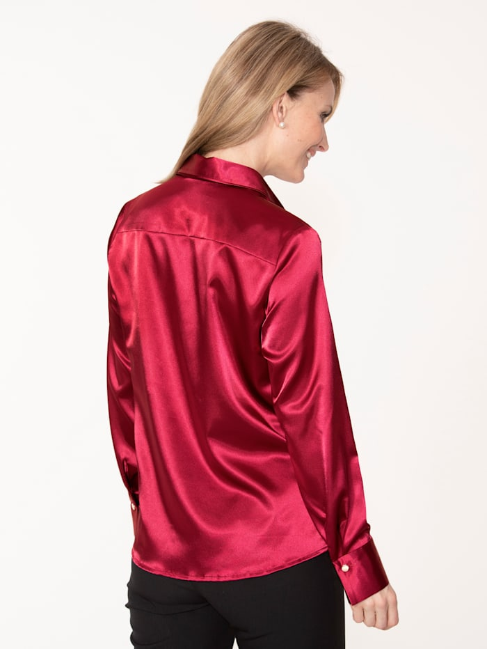 Bluse aus elastischem Satin