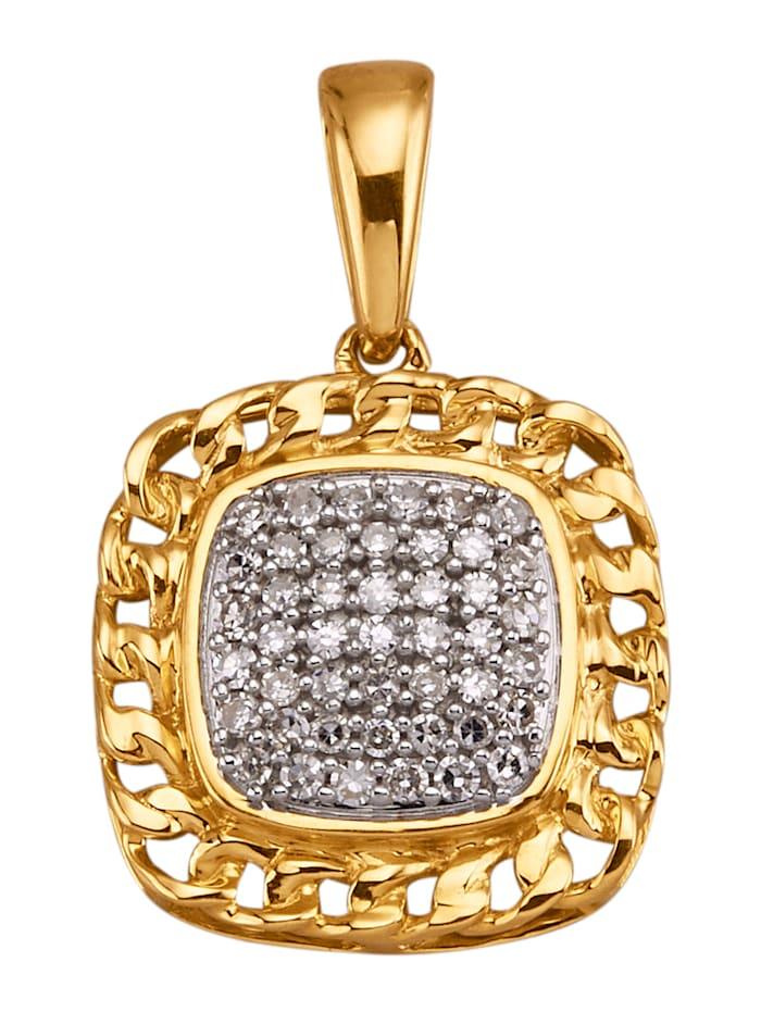 Diemer Diamant Anhänger mit Diamanten, Weiß