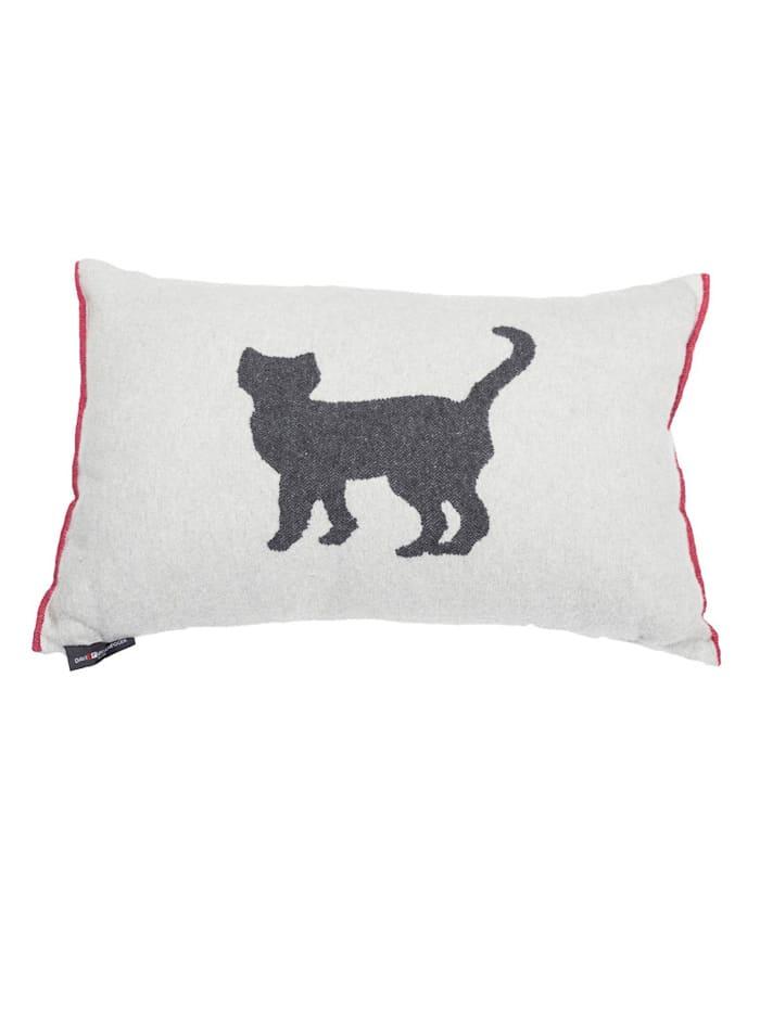FUSSENEGGER Kissenhülle, Katze, weiß
