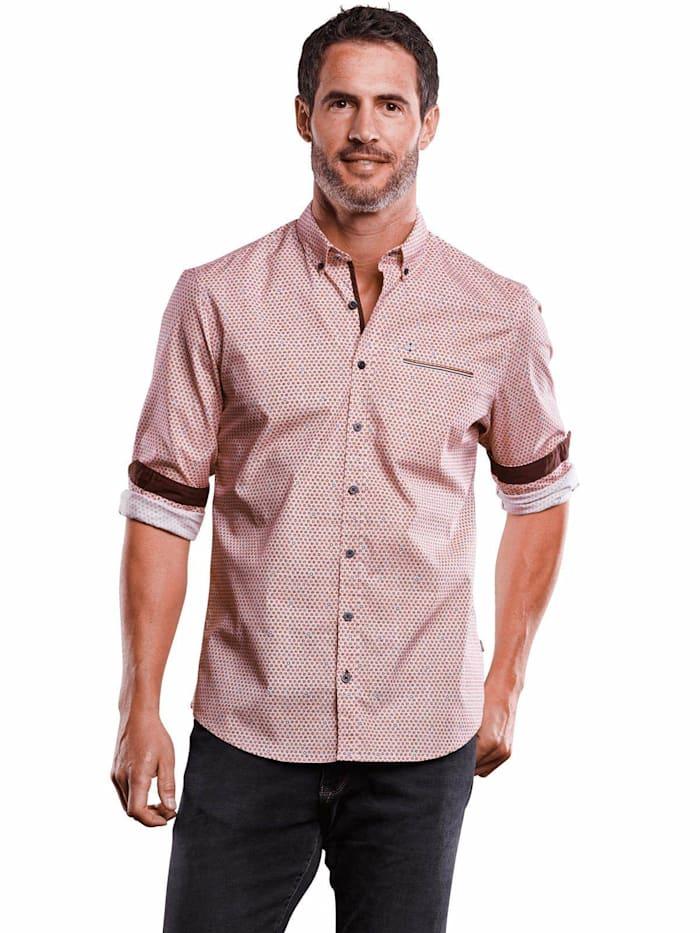 Engbers Gemustertes Hemd Comfort-Stretch, Blutrot