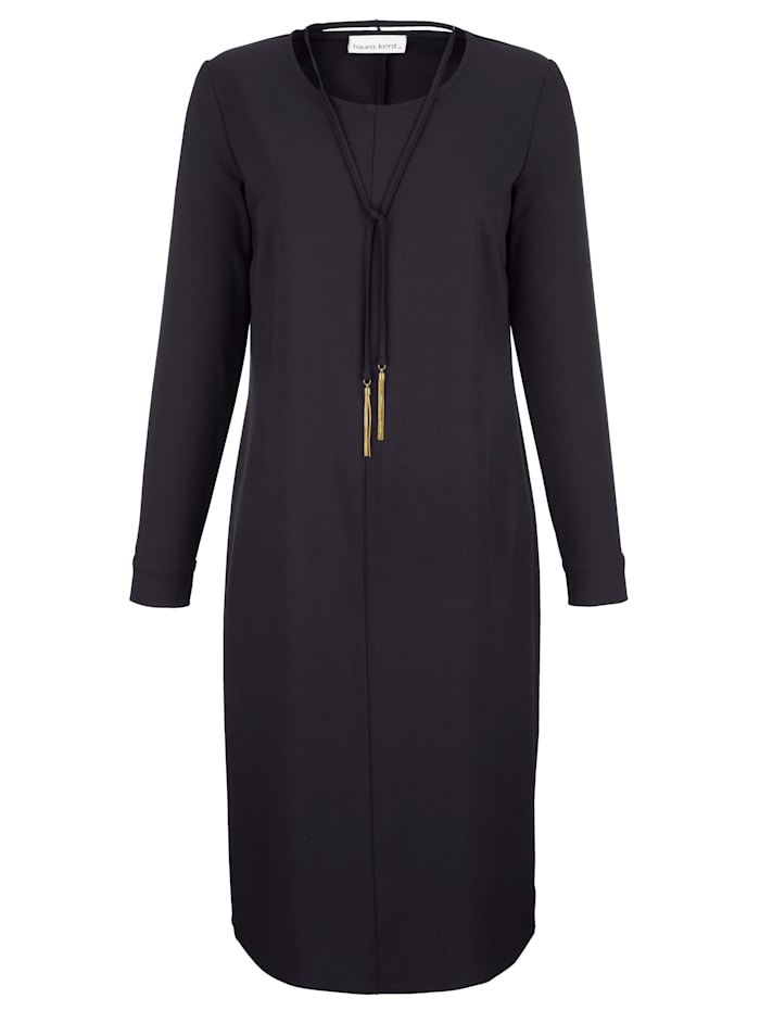 Laura Kent Kleid in gerader Form, Schwarz