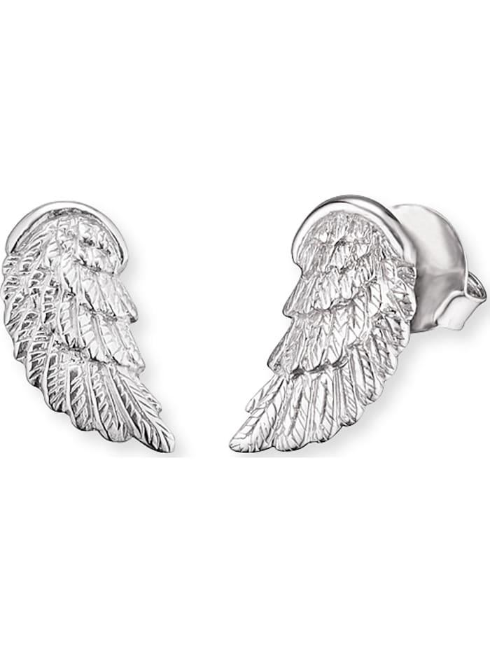 Engelsrufer Engelsrufer Mädchen-Ohrstecker Flügel 925er Silber rhodiniert, silber