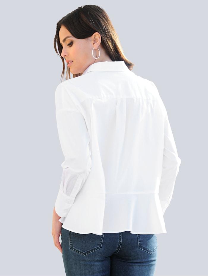 Bluse mit Volants im Rückenteil