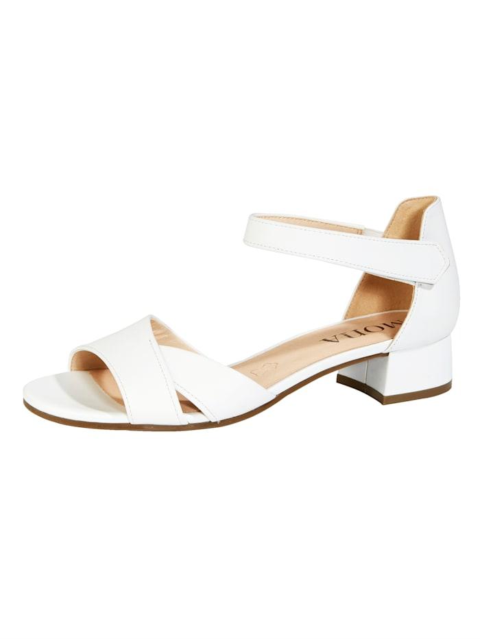 MONA Sandaaltje met klittenbandsluiting, Wit