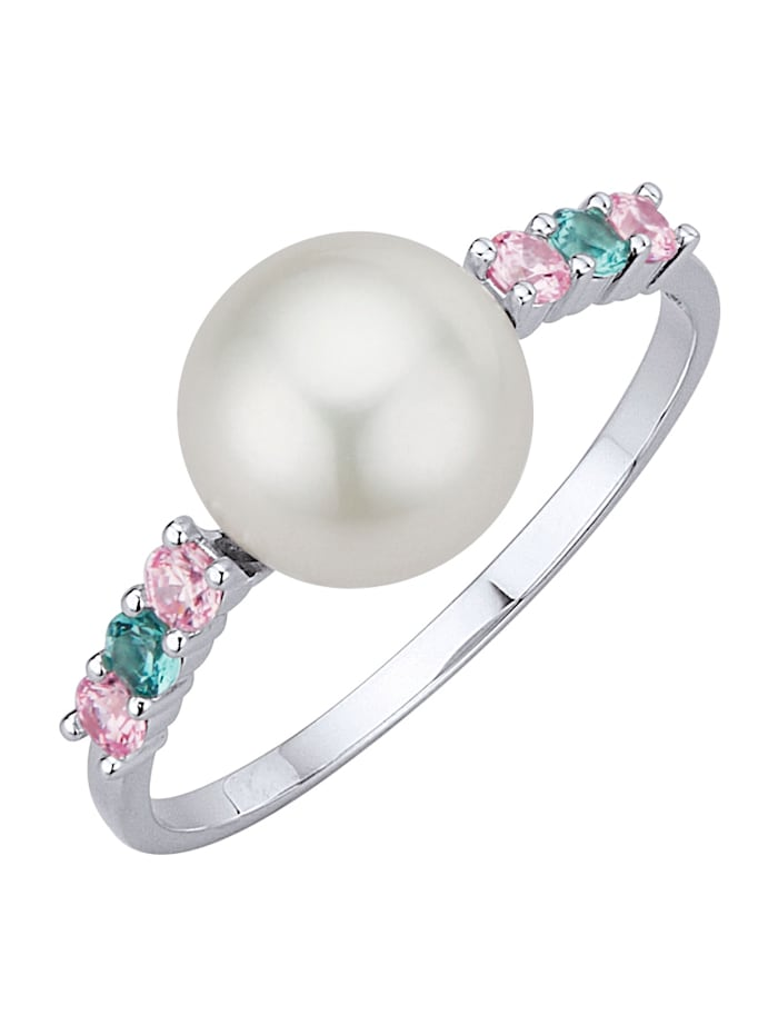 Diemer Perle Damenring, Multicolor