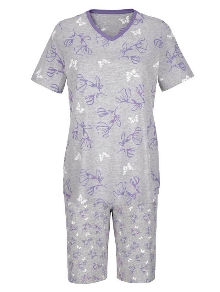 Pyjamas med vackert blomprint