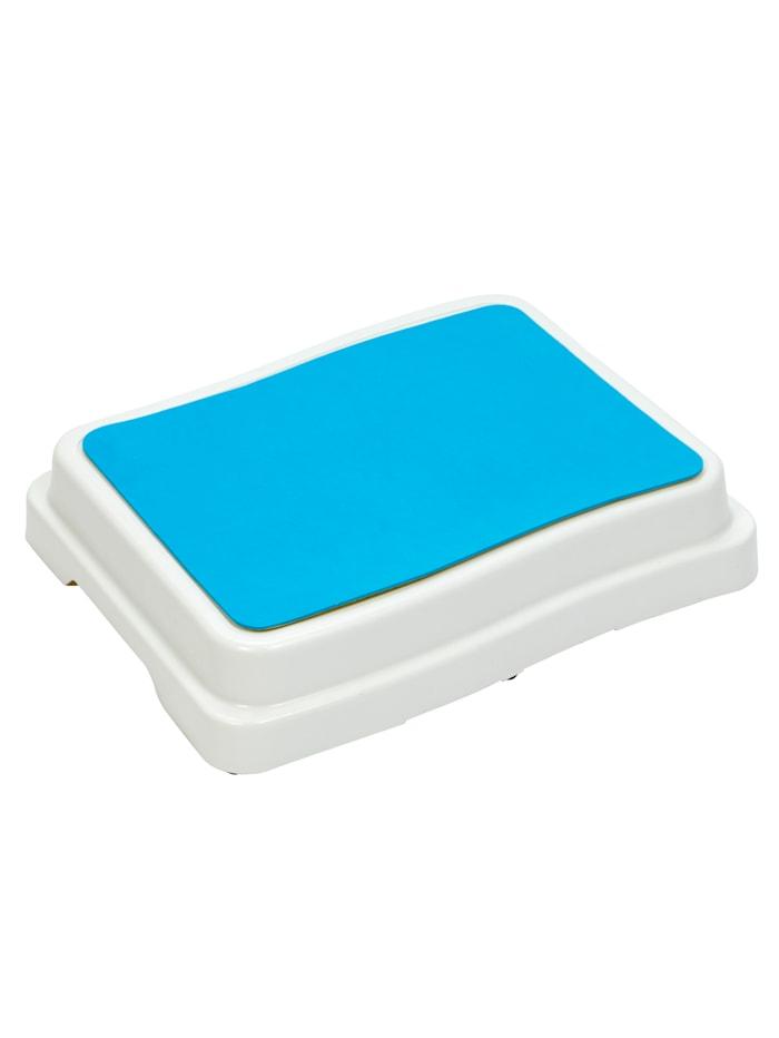 Rehaforum Opstapje voor de badkamer, wit/blauw