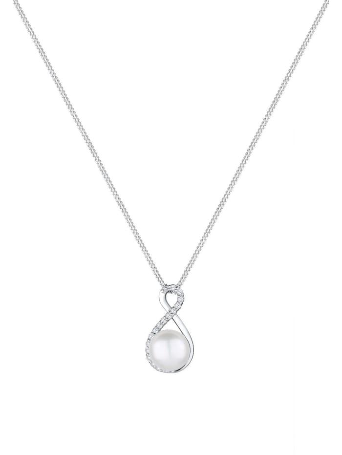 Halskette Infinity Süßwasserzuchtperle 925 Silber