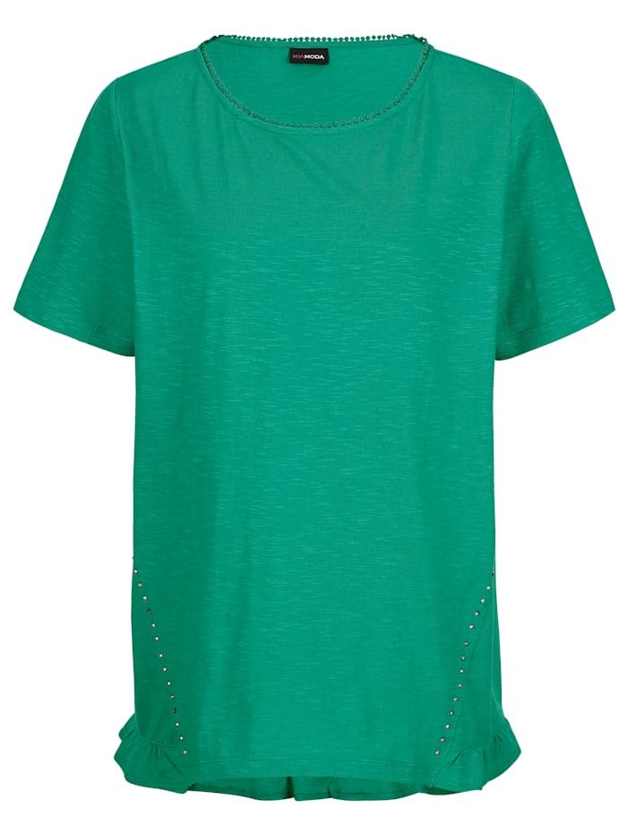 MIAMODA Topp med pyntestener, Grønn