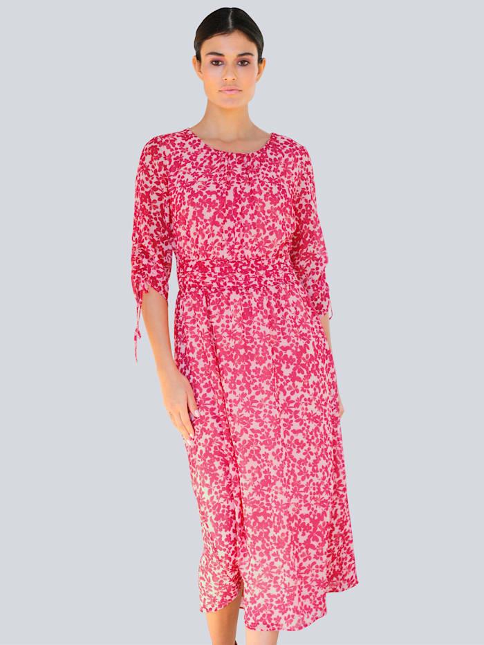Alba Moda Kleid mit exklusivem Dessin, Pink/Rosé/Gelb