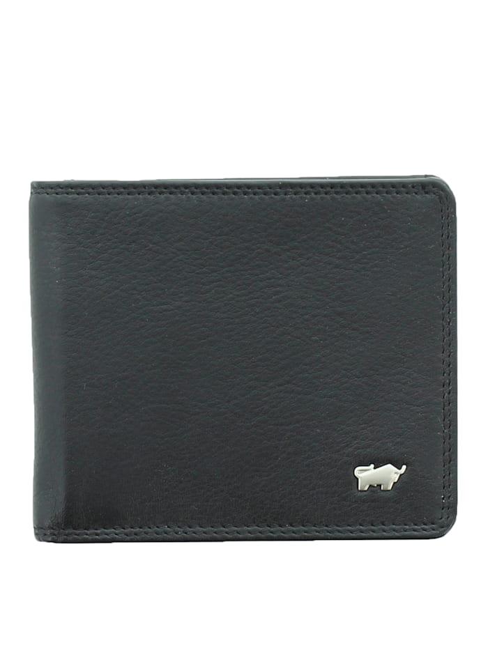 Braun Büffel Lederbörse GOLF 2.0 im klassischen Look, schwarz