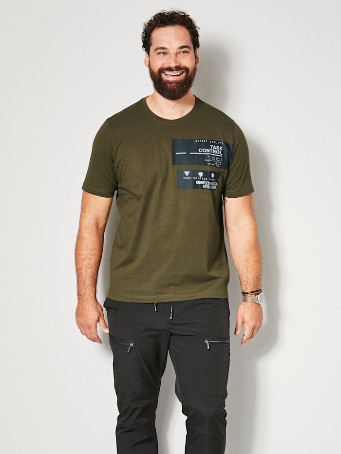 Men Plus T-Shirt schnelltrocknend, Schlamm