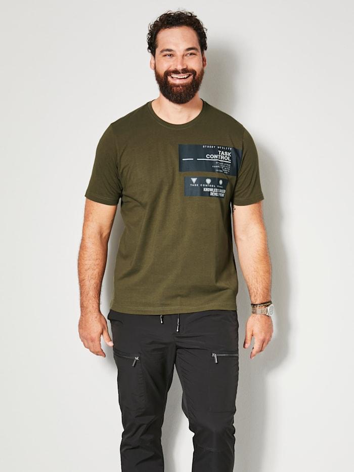 Men Plus T-shirt van sneldrogend materiaal, Aarde
