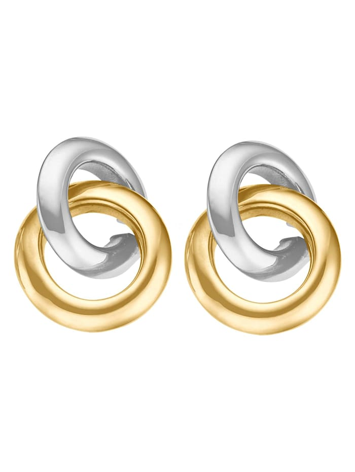 CHRIST GOLD CHRIST Gold Damen-Ohrstecker 375er Gelbgold, 375er Weißgold, bicolor/gold/weißgold