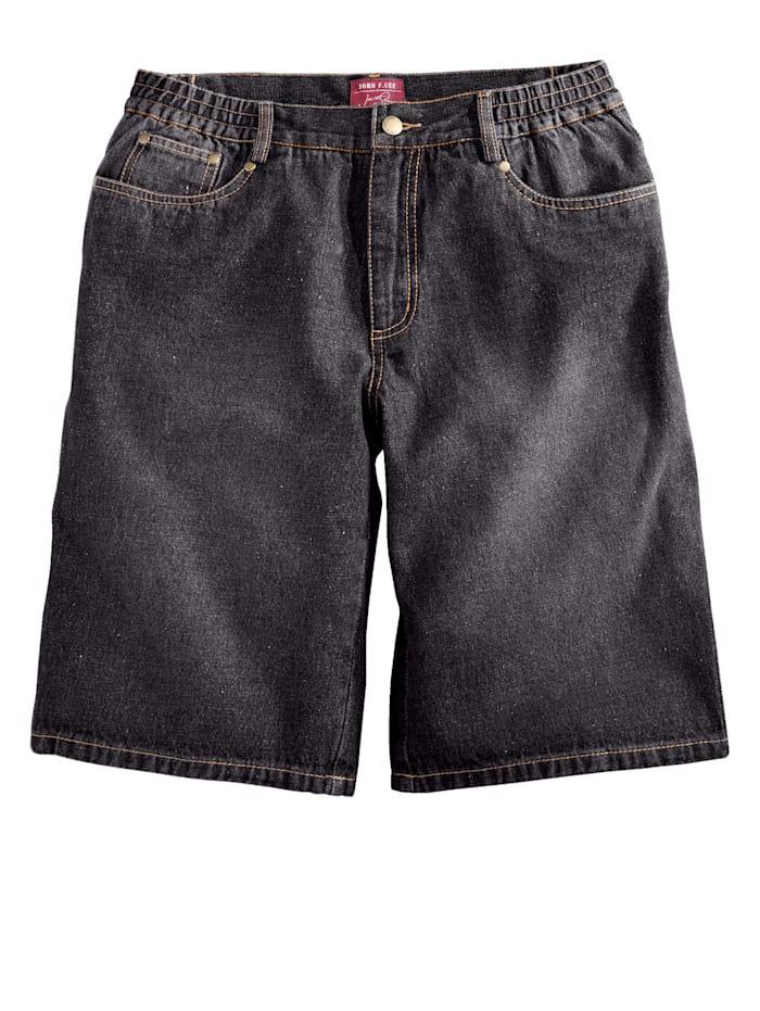 Men Plus Jeansshorts, Black/Black stone