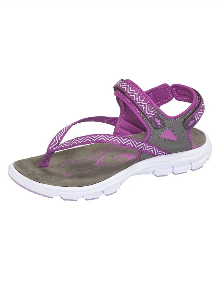 Lico Trekingové sandále s variabilne nastaviteľným suchým zipsom, Fialová