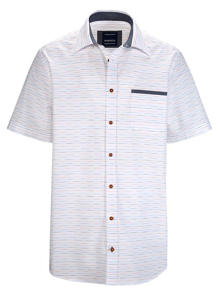 BABISTA Košeľa s jemným prúžkovaným vzorom, Biela
