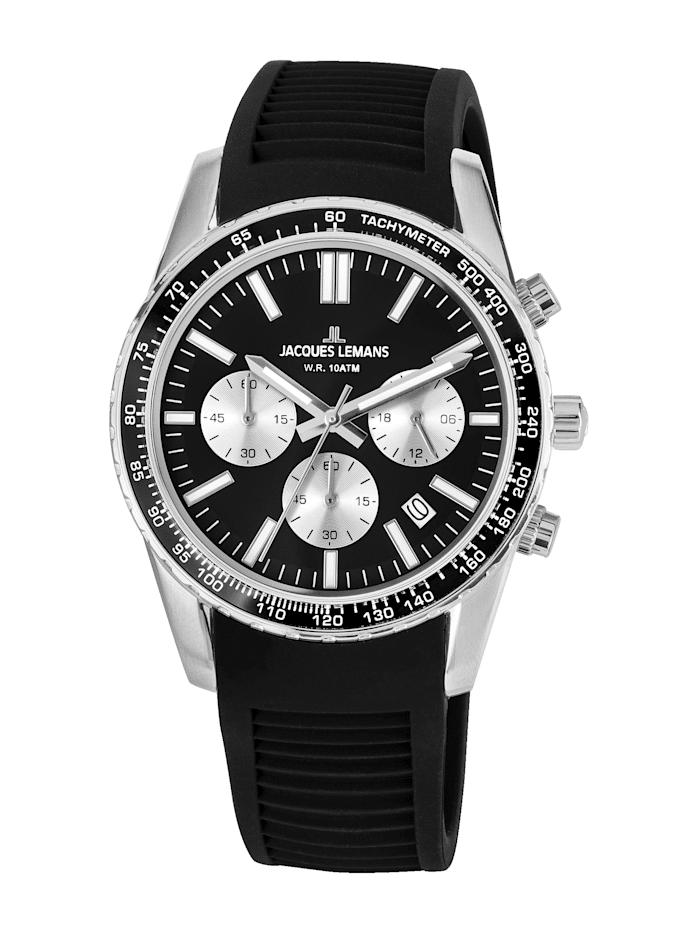 Jacques Lemans Unisex-Uhr Chronograph Serie: Liverpool, Kollektion: Sport 1-2059A, Schwarz