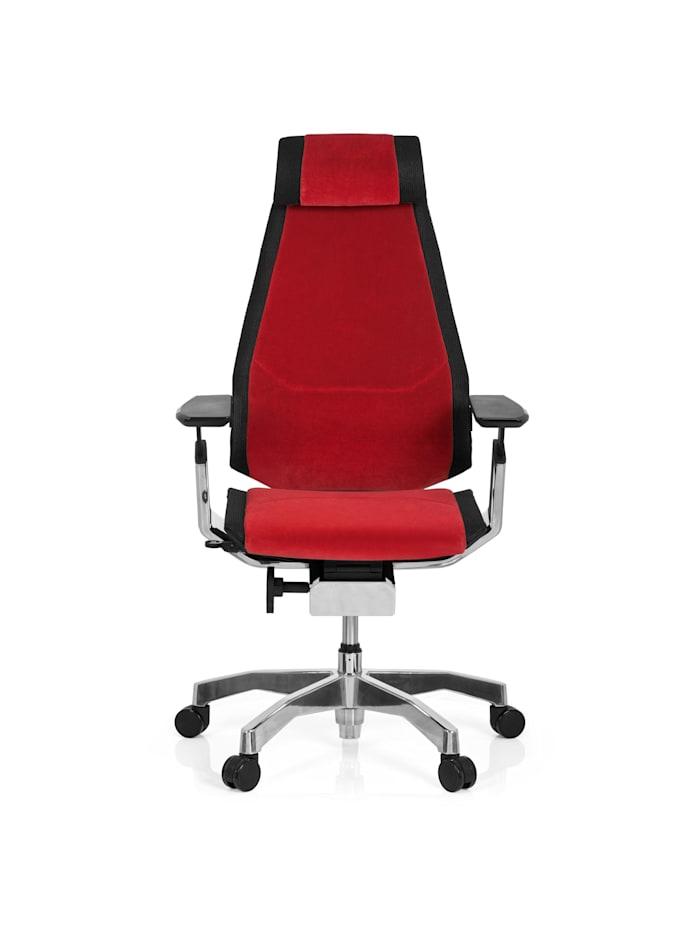 hjh OFFICE High End Bürostuhl GENIDIA PRO, Rot / Schwarz