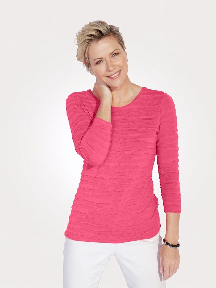 Rabe Shirt mit Ringelstruktur, Pink