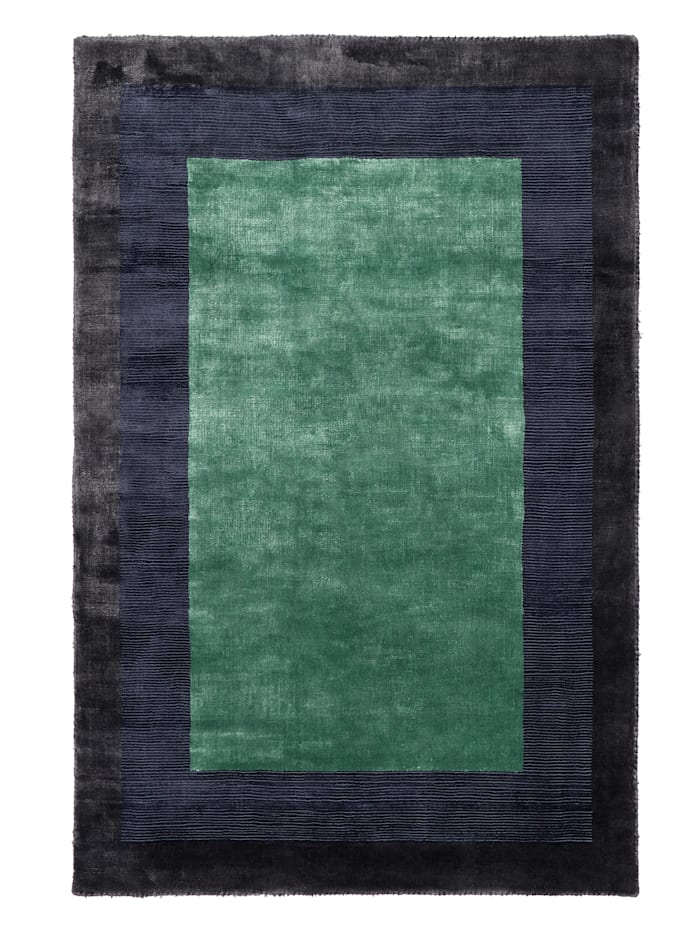 IMPRESSIONEN living Teppich, Grau/Blau/Mintgrün