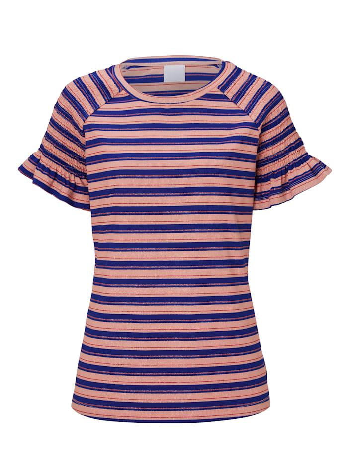 REKEN MAAR T-Shirt mit Smokdetail, Multicolor
