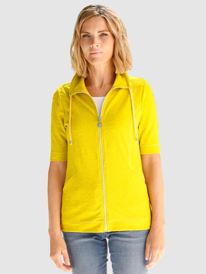 Paola Sweat bunda ze strukturovaného žakáru, Lipová