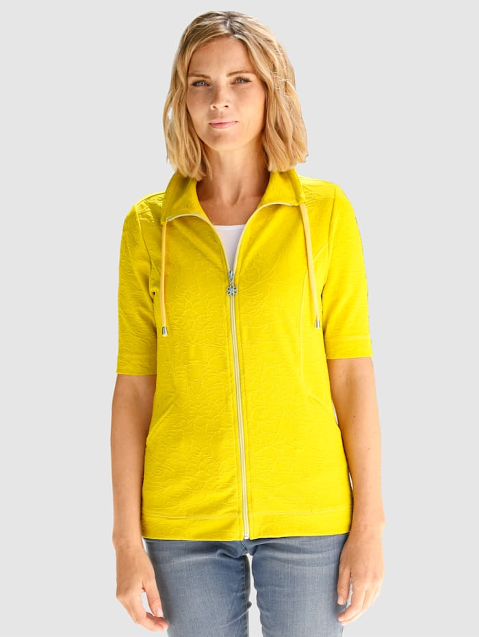 Paola Sweat bunda zo štruktúrovanej žakárovej tkaniny, Lipová